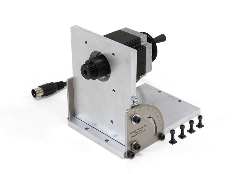 6597 laser tilting angle table w stepper motor sherline for Cnc rotary table with stepper motor